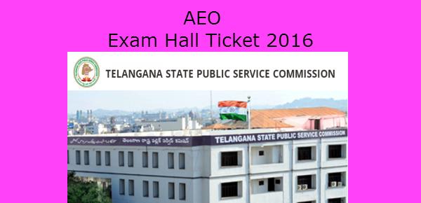 TSPSC AEO Hall Ticket 2016