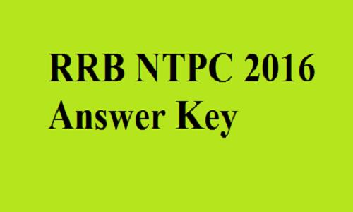 RRB NTPC 2016 Answer Keys