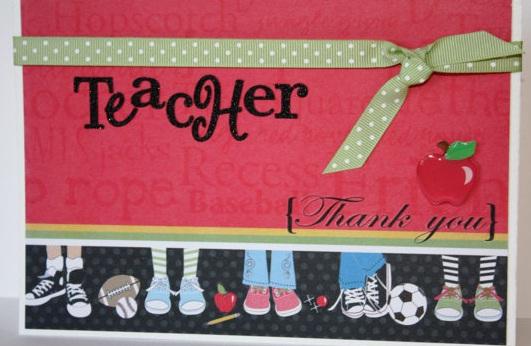 thank you teacher hand made cards