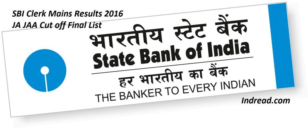 SBI Clerk Mains Result 2016