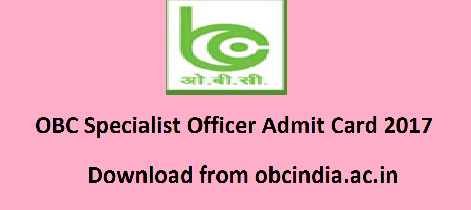 Oriental Bank of Commerce SO Call Letter 2017
