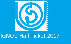 IGNOU hall ticket June 2017