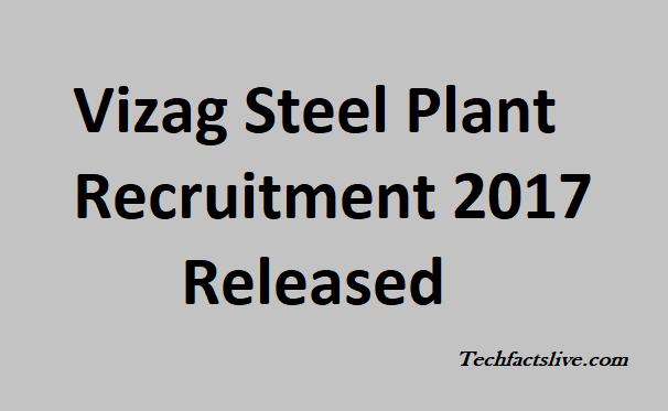 Vizag Steel Plant Recruitment 2017