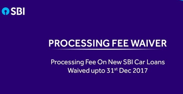 SBI waives processing fee on car loans till Dec